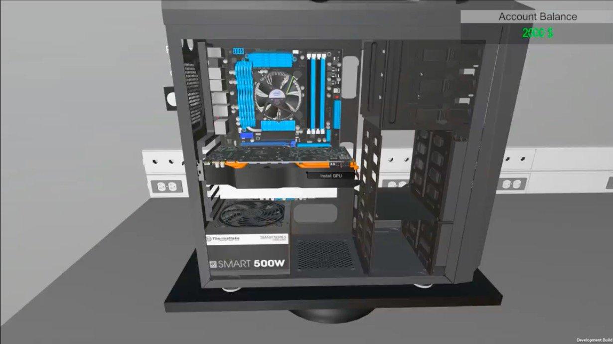 Un simulateur de montage pc !!!