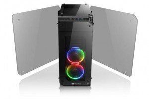 thermaltake view 71 tempered glass rgb edition full tower chassis-four-sided 5mm thick tempered glass panels with swing door design