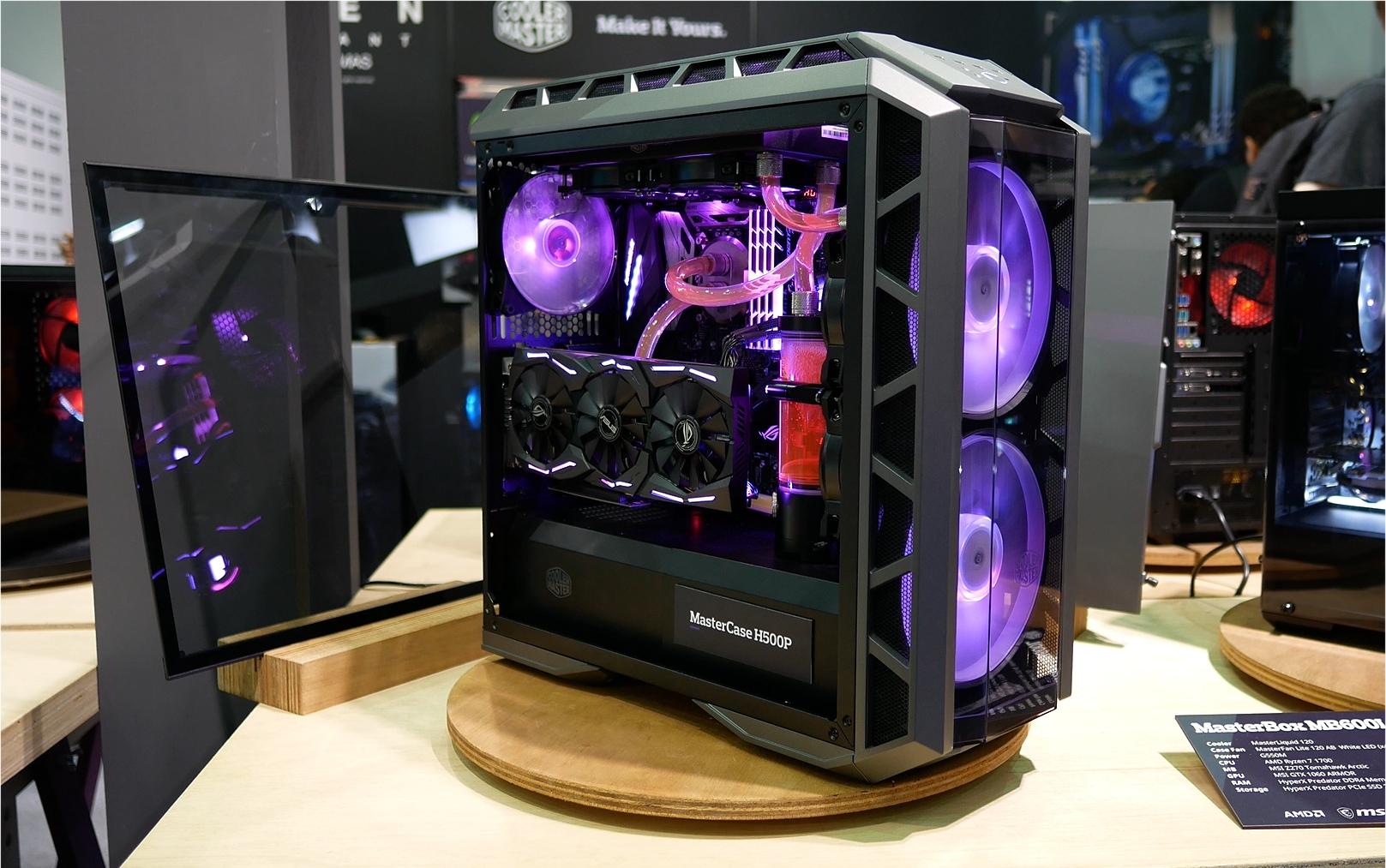 Le MasterCase H500P de Cooler Master se montre un peu