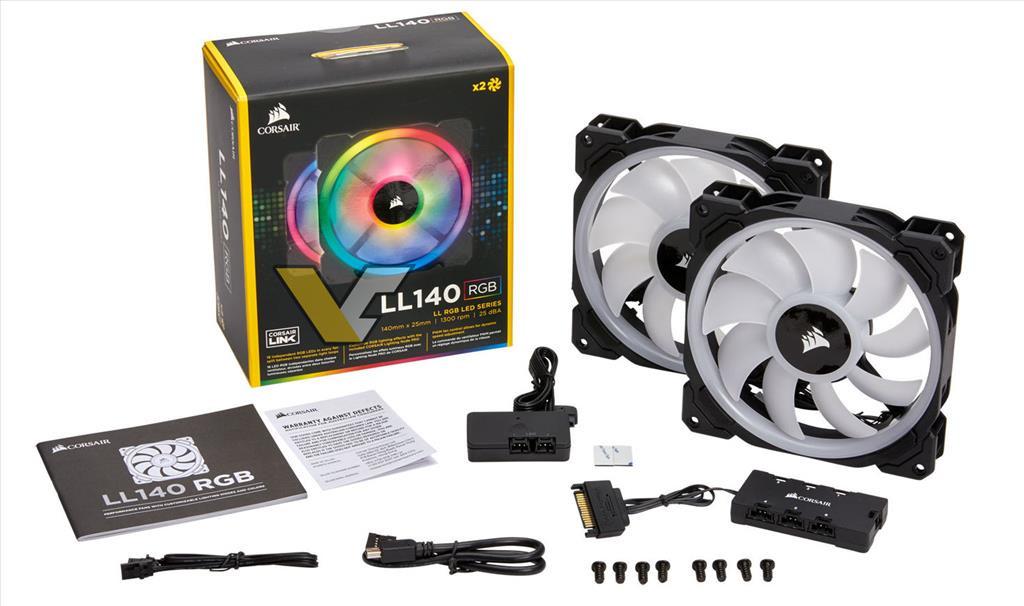 De nouveaux Ventilateurs RGB chez Corsair LL120 et LL140 RGB
