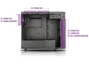 masterbox-e500l-cooling