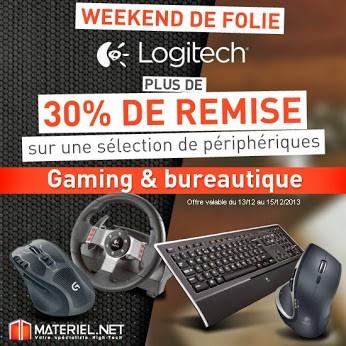 Bon plan : Week-end promo Logitech... jusqu'à -30%... -40%... (terminé)