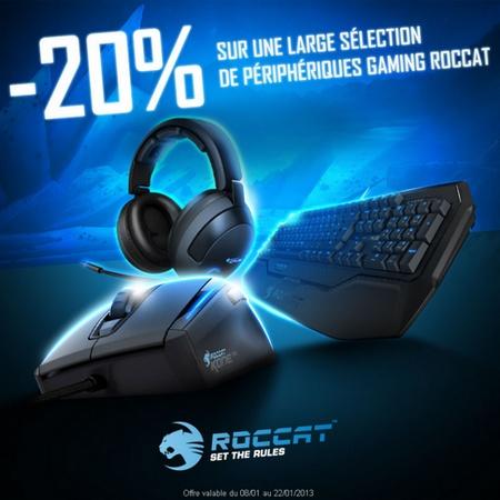 Bon Plan : -20% sur une large sélection gaming ROCCAT