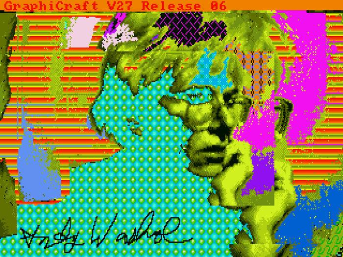 Andy Warhol faisait mumuse sur Amiga...