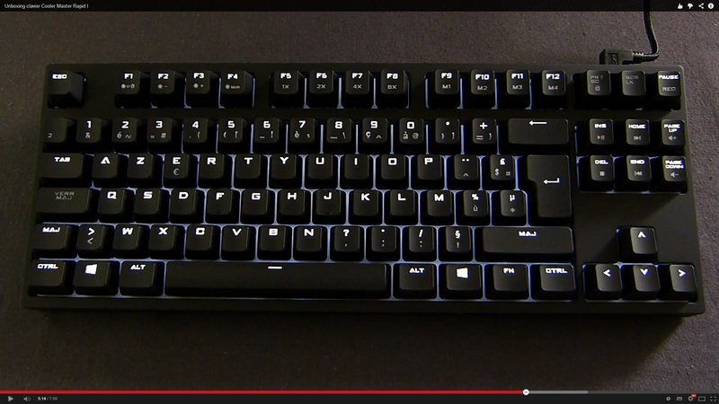 Unboxing clavier Cooler Master Quick fire Rapid I