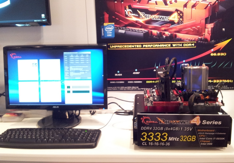 G.SKILL fait le show avec sa DDR4