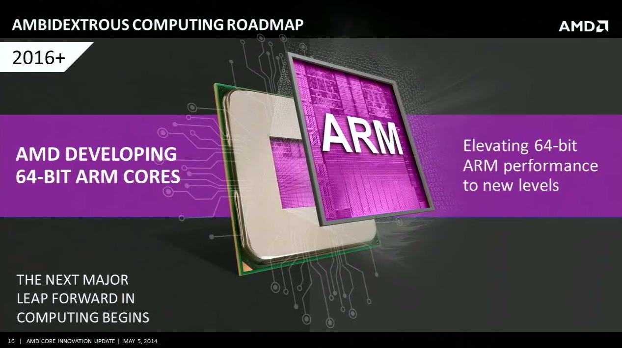 Une puce ARM chez AMD en 2016