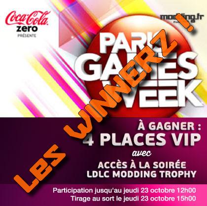 Tirage au sort PASS VIP PGW 2014 et soirée LDLC, les gagnants !