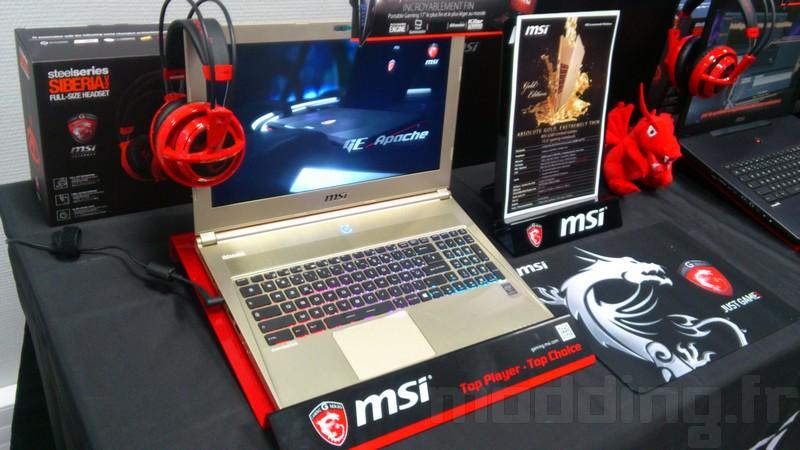 MSI nous présente sa nouvelle gamme de portable gamers