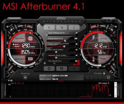 MSI AFTERBURNER , la nouvelle version 4.1