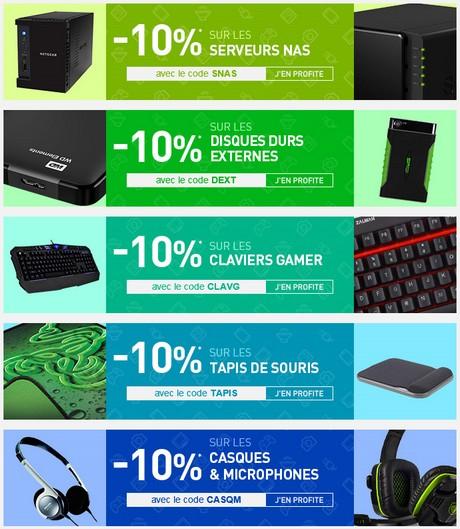 [BON PLAN] -10% sur les claviers, les tapis, les casques....