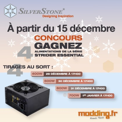 [CONCOURS]  4 alimentations SILVERSTONE à gagner...