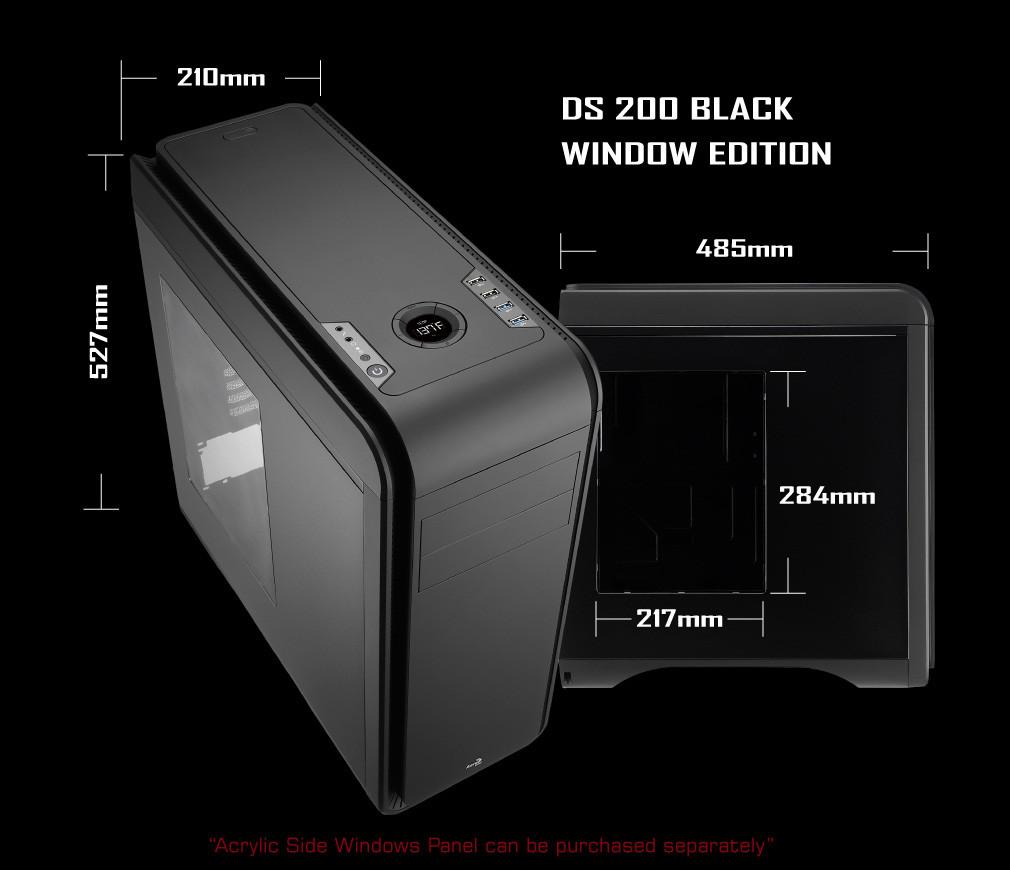 AeroCool présente le DS200 Black Edition avec fenêtre