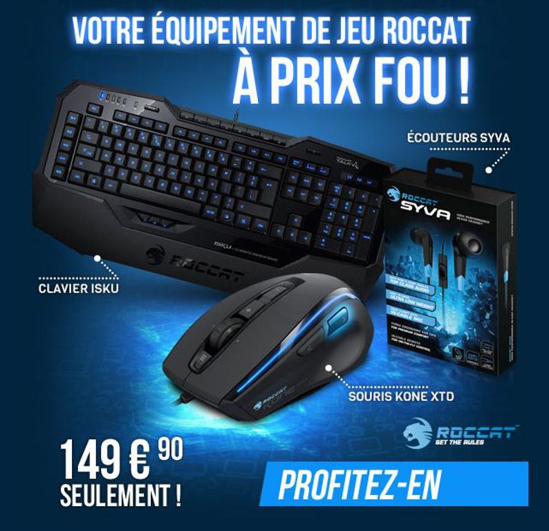 [Bon Plan] L'ensemble ROCCAT gamer (clavier, souris, écouteurs) à...