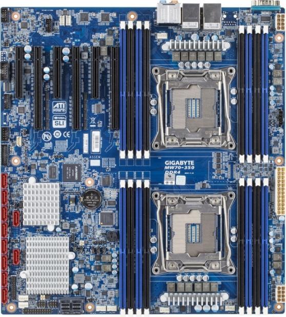 La nouvelle MW70-3S0 de GIGABYTE gère 2 CPU, 3 GPU et une flopée de disques durs SAS