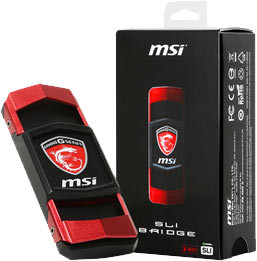 MSI annonce des ponts SLI pour les GTX9**