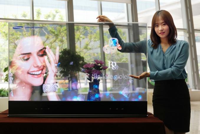 Samsung et Intel montrent des écrans transparents