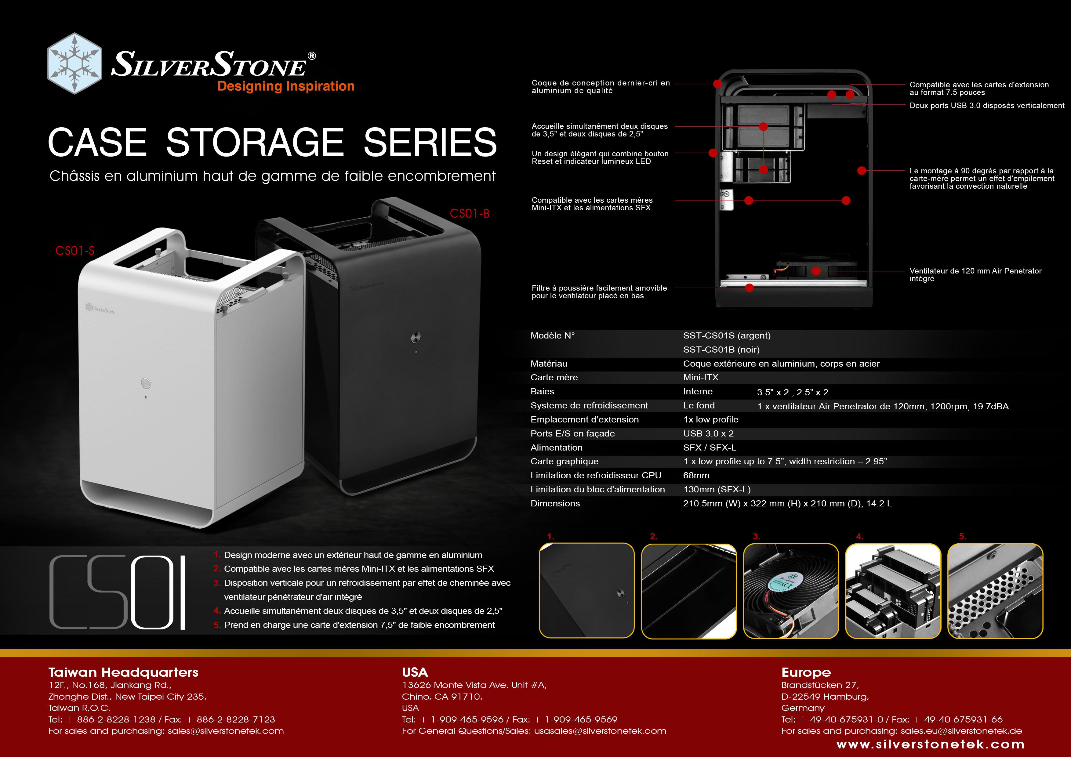 SilverStone: nouveaux boiters de Stockage CS01 et CS01-HS disponible très bientôt