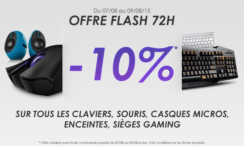 [Bon plan] -10% sur les claviers, souris, casques, sièges gaming....