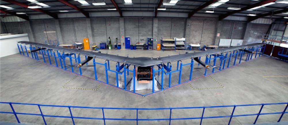 Facebook prépare des drones de 42m d'envergure