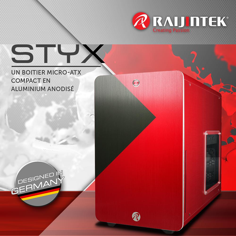 Raijintek STYX, un Micro-ATX compact en Aluminium