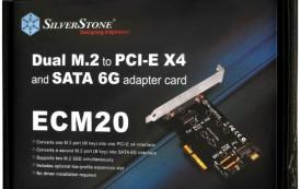 Silverstone propose son ECM20, une carte double adaptateur M.2