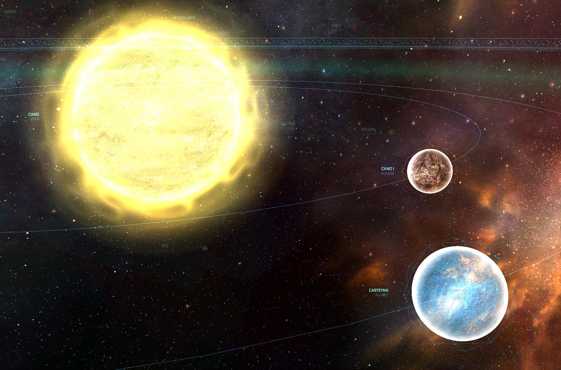 Venez découvrir la carte interactive de l'espace Star Citizen