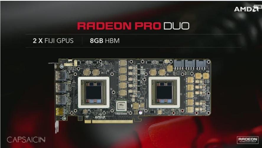 AMD dévoile une grosse carte Bi GPU