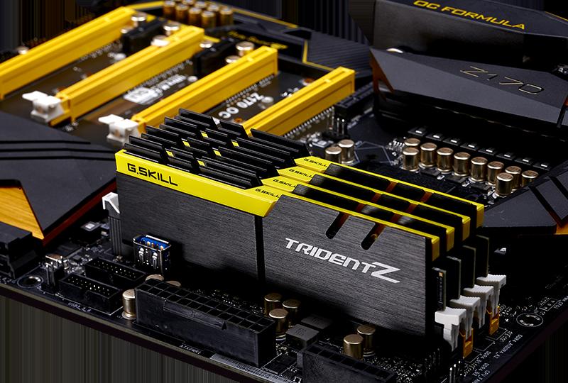 G.Skill lance de la couleur sur ses Trident Z DDR4