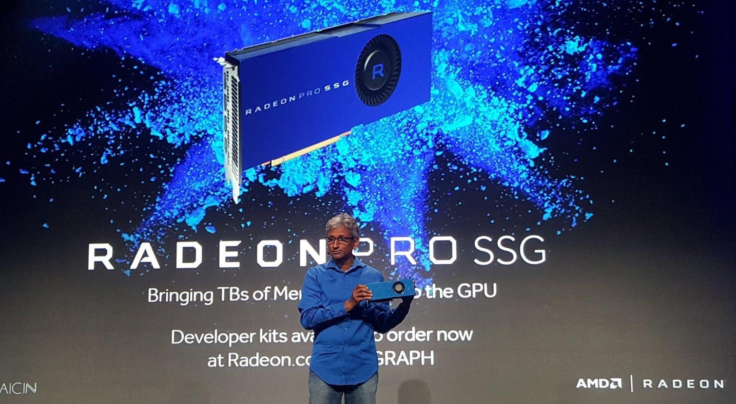 AMD présente sa Radeon Pro SSG qui gère la 8K