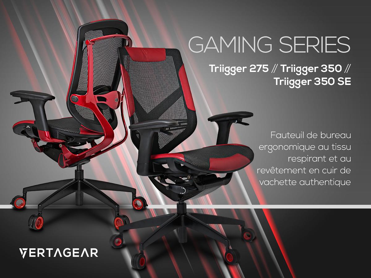 Vertagear annonce trois nouveaux fauteuils gaming