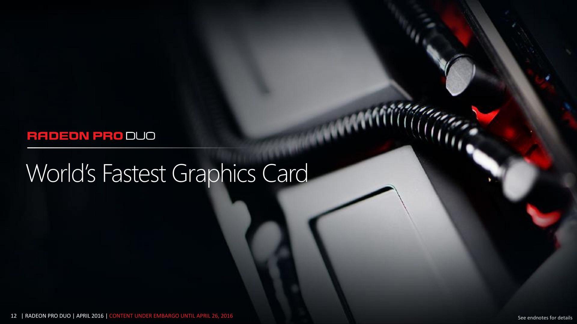 Gros rabais sur la grosse Radeon Pro Duo d'AMD
