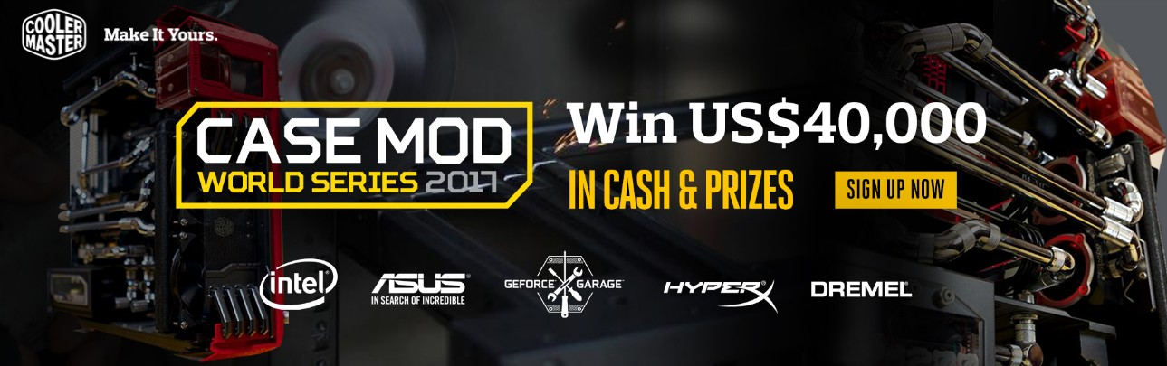 Cooler Master annonce le Case Mod World Series 2017