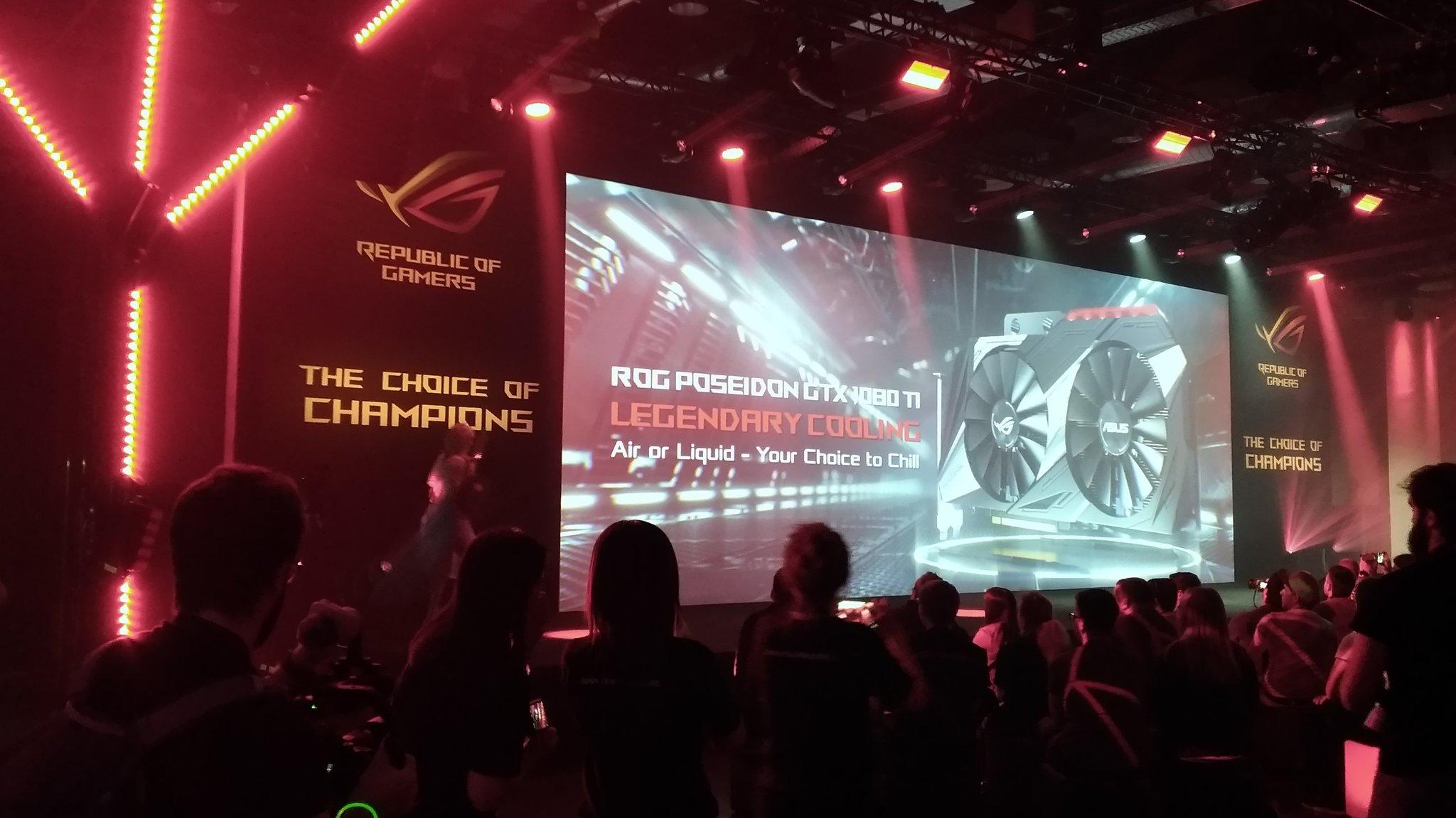 ASUS dévoile sa GeForce GTX 1080 Ti ROG Poseidon