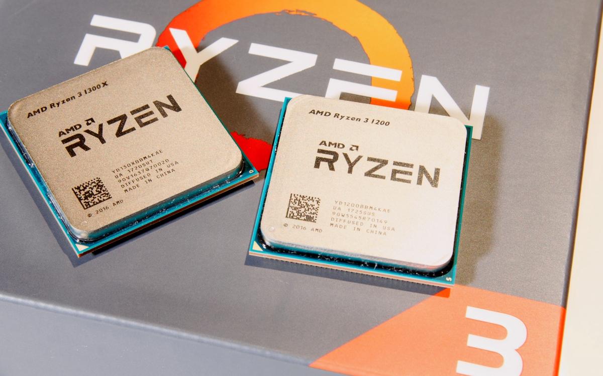 AMD lance ses Ryzen 3 1300X et Ryzen 3 1200