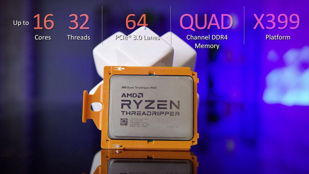 Un Ryzen Threadripper 1950X overclocké à 4,1 GHz avec un AIO