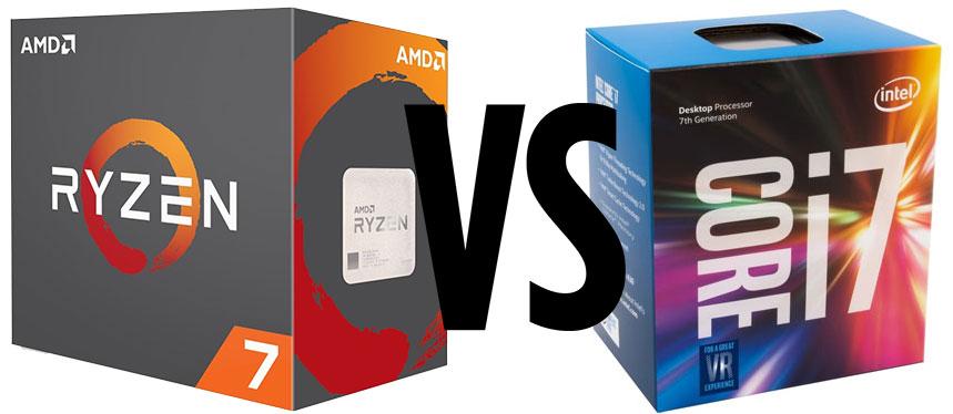 Core i7-7700K vs Core i5-7600K vs Ryzen 7 1700 vs Ryzen 5 1600X vs Ryzen 5 1600