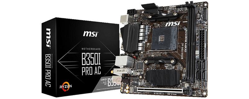 MSI révèle une carte mère AM4 en mITX