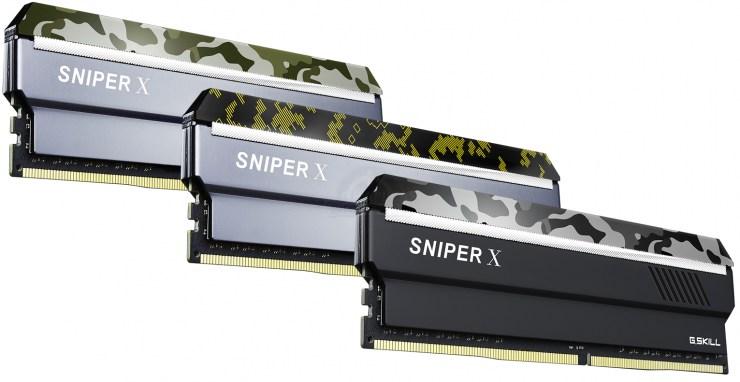 G.Skill Sniper X: Nouvelle gamme de mémoire DDR4 avec un design camouflage
