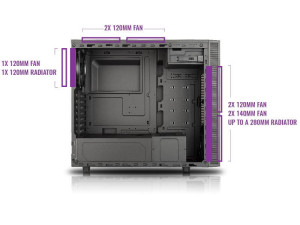 masterbox-e500l-cooling