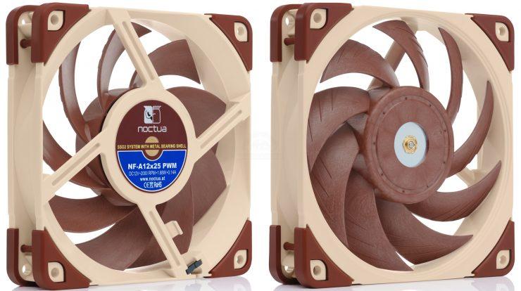 Noctua annonce ses ventilateurs haute performance NF-A12x25 et NF-P12