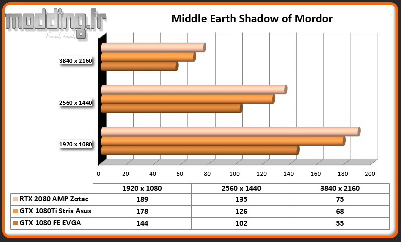 RTX 2080 AMP Middle Earth Shadow of Mordor
