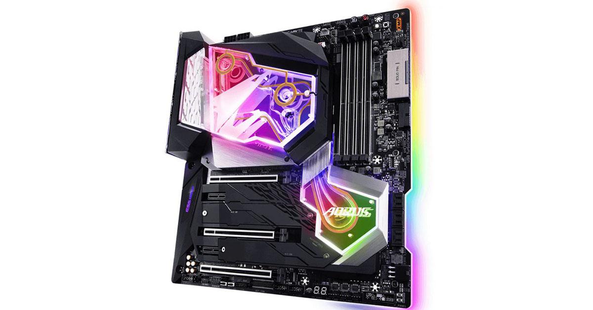 Un prix extrème pour la grosse GIGABYTE Z390 Aorus Xtreme WaterForce