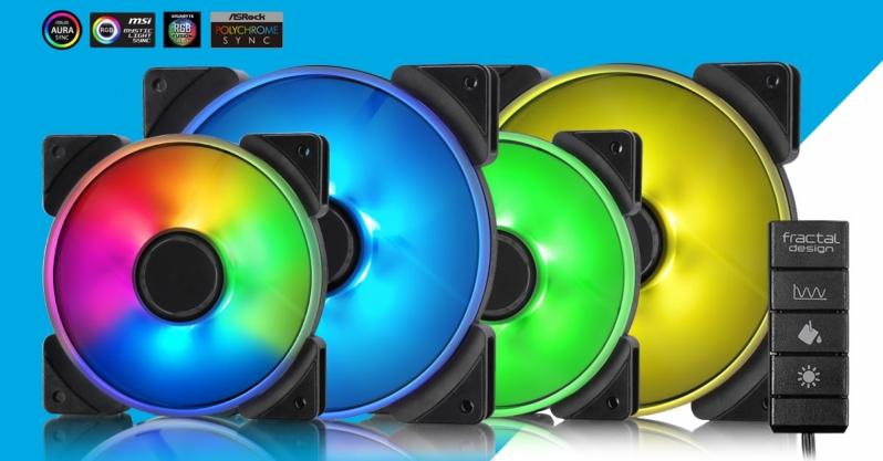 Fractal Design présente ses ventilateurs RGB 120 / 140mm de la série Prisma