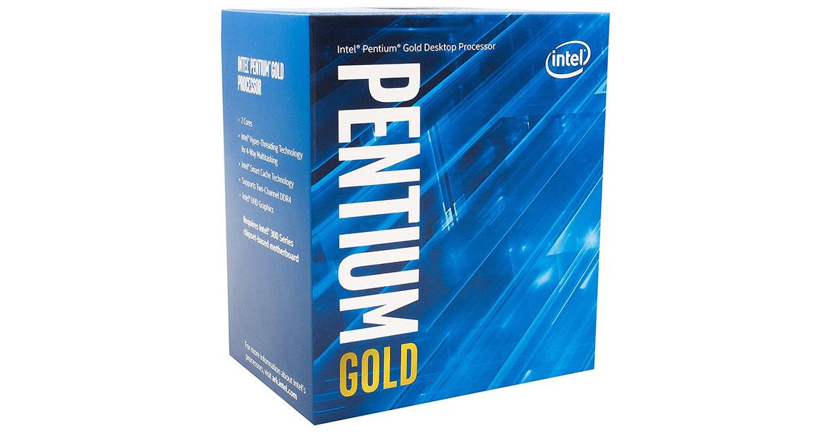 Intel Pentium Gold G5620: 2 cœurs et 4 Processus à 4.00 GHz pour début mars