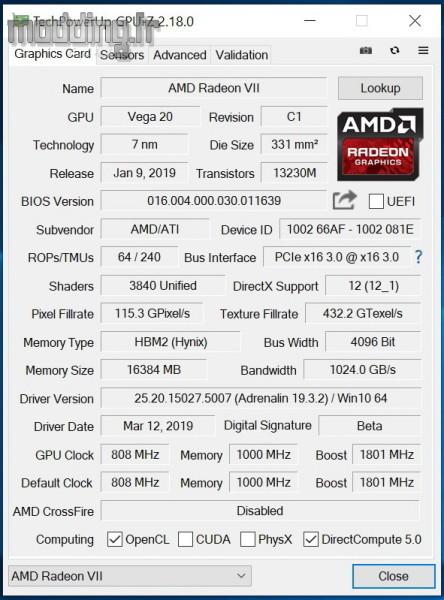 Radeon VII Test 01