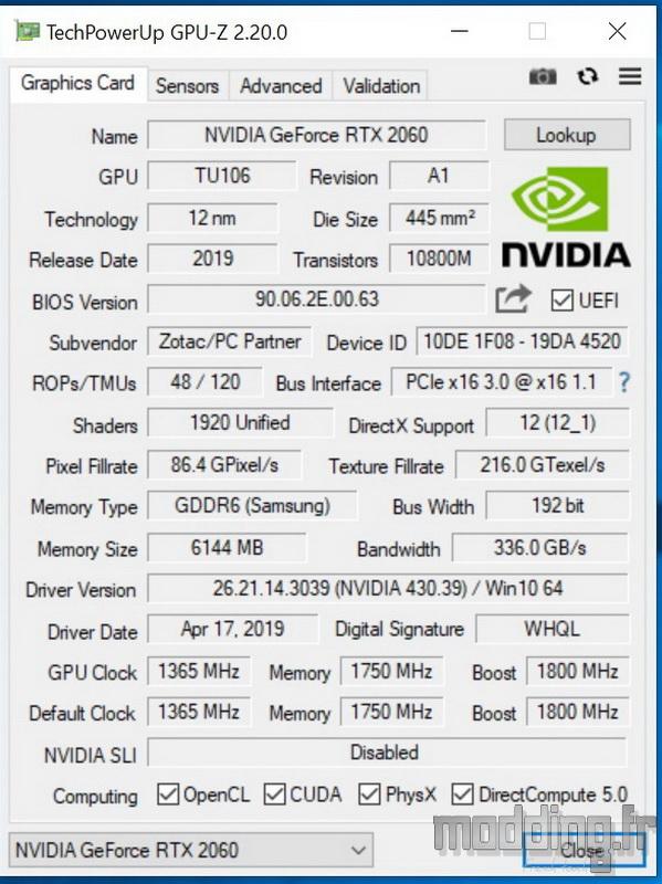 RTX 2060 AMP Test 01