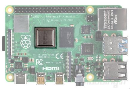 Raspberry pi 4 board cpu focus
