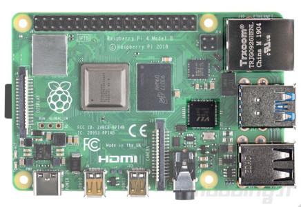 Raspberry pi 4 board face usb focus