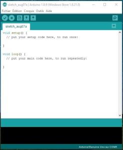 Arduino IDE fenêtre